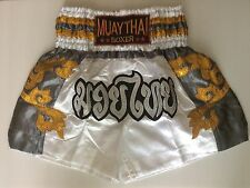 NEW THE BEST DESIGN THAI KICK BOXING SHORT MMA TRUNKS SATIN SIZE M-XXXL.