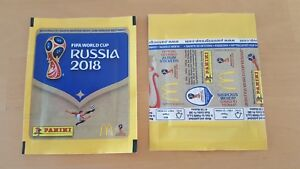 Panini-coupe-du-monde-2018-1-Mc-Donalds-Sac-FIFA-WC-18-Bustina-pochette-packet-World-Cup