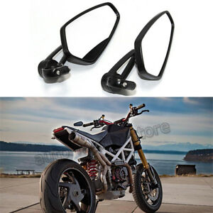 Motorcycle Handle Bar End Rearview Mirrors For Ducati Hypermotard 1100 796 939