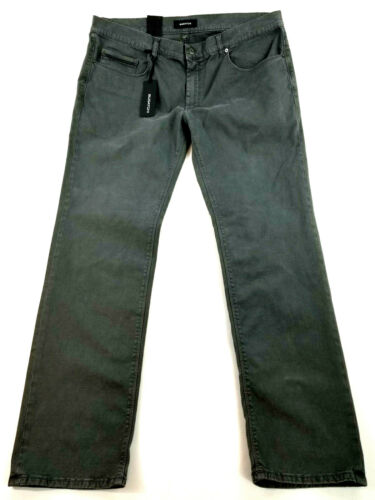 new BUGATCHI men jeans GX6802P24 smoke grey made in Italy W42 L34 MSRP $175