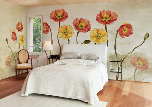 3D ROT Golden Flower 8 Wall Paper Murals Wall Print Wall Wallpaper Mural AU Kyra