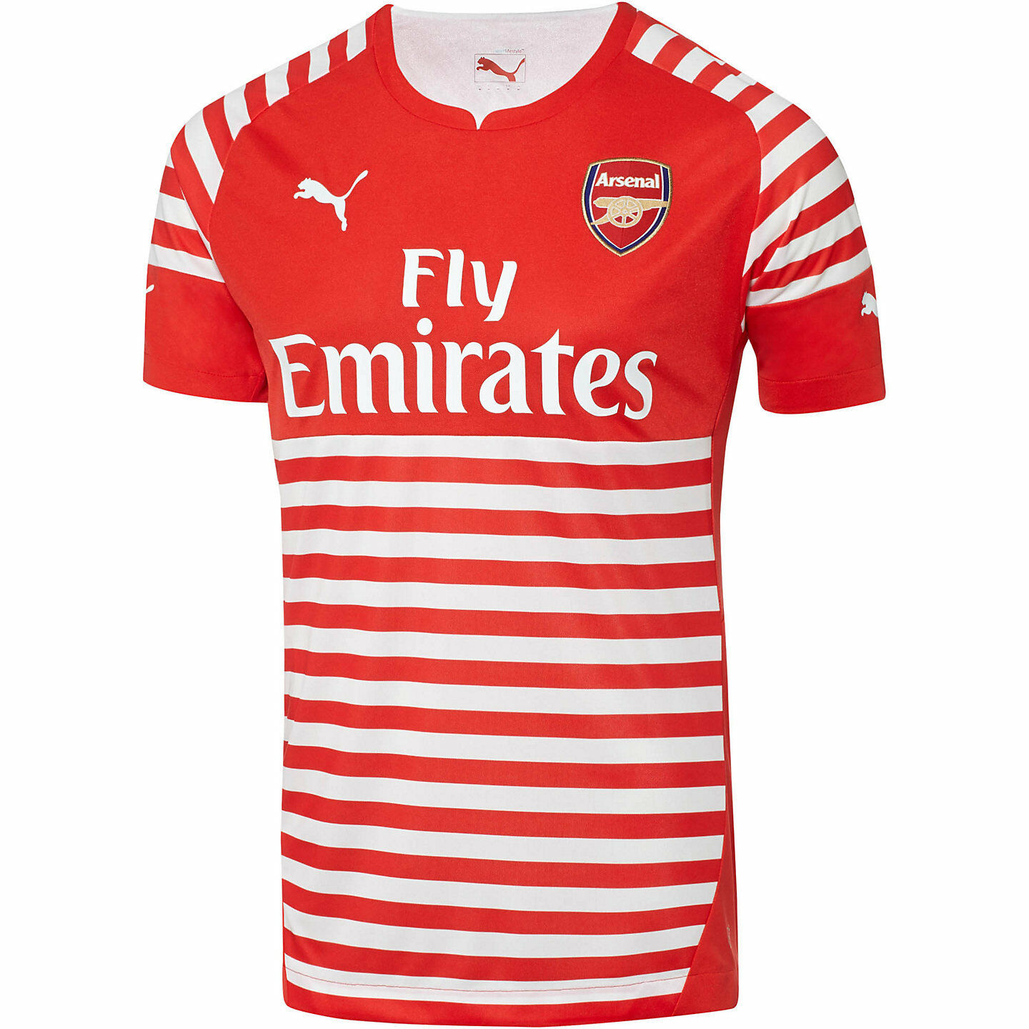 Puma Arsenal FC Official 2014-15 Soccer Training Jersey  New ROT / Weiß
