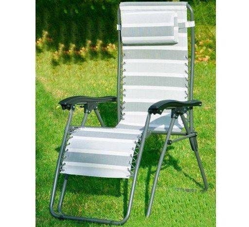 CRUSADER EDWIN CHARCOAL GREY LOUNGER garden chair relaxer V793 B
