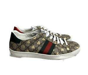 Gucci Iconic Ace Gold Bee Lace Up