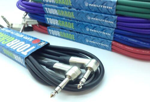 Neutrik TRS Stereo Balanced Angled Jack Cable Right Angle Jacks *ALL LENGTH/'S*
