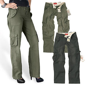 Image is loading Surplus-Ladies-039-Trousers-Pant-Ladies-Cargo-Army- 25baee0901