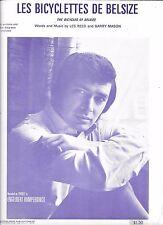ENGELBERT HUMPERDINCK 1969 Sheet Music LES BICYCLETTES DE BELSIZE