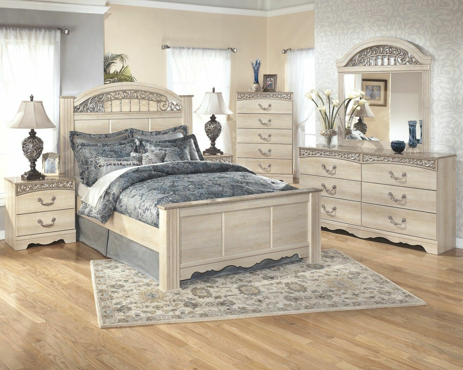 Ashley Furniture B196 Catalina 4 Piece Queen Or King Bed Frame
