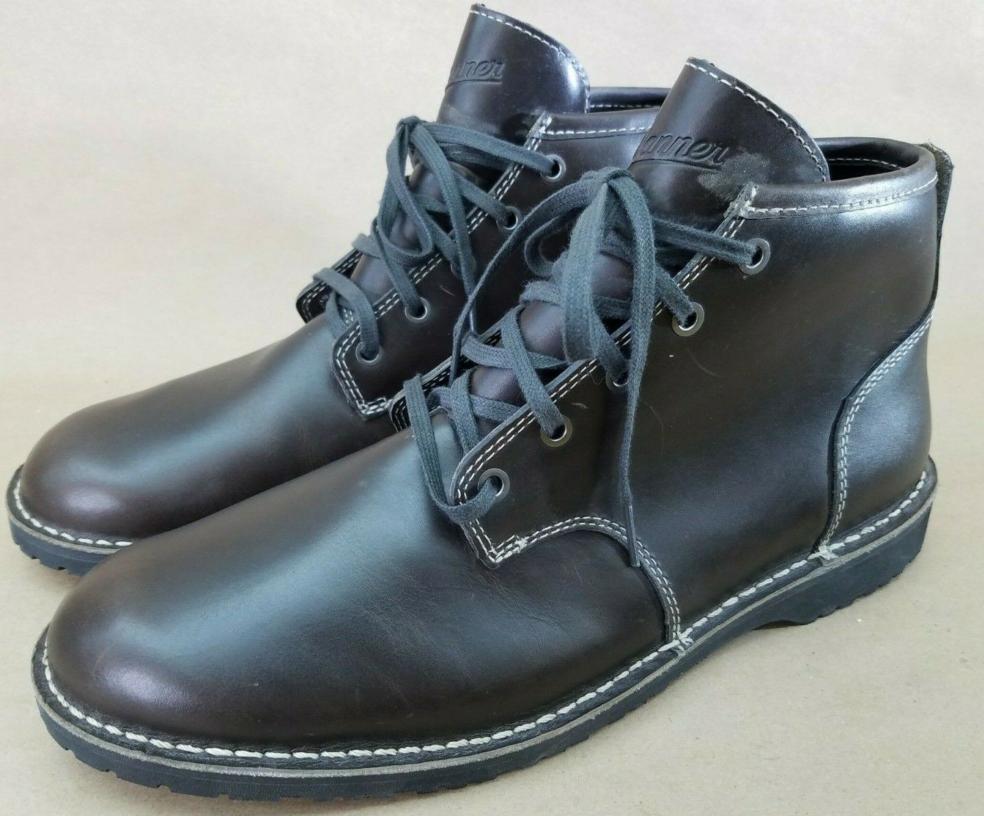 Danner Men's Wolf Creek Chukka Falcon Gray brown leather shoes boots Size 10.5 D