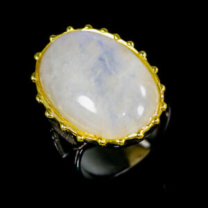 Moonstone-Ring-Silver-925-Sterling-Handmade28ct-Size-9-R130215