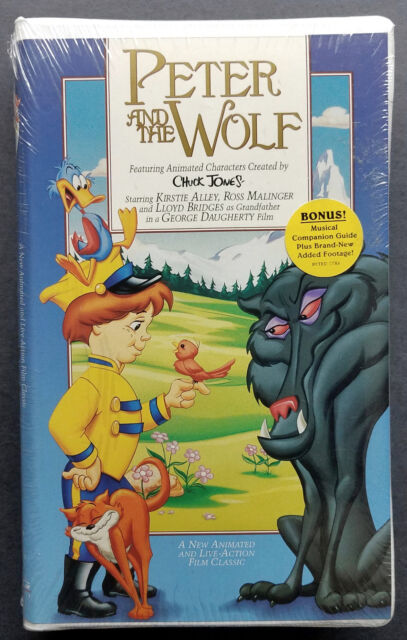 Peter and the Wolf VHS Movie 1996 New Factory Sealed Animated Live Action
