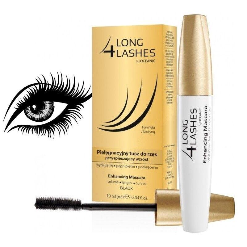 Long 4 Lashes Eyelash Growth Enhancing Black Mascara With Biotin