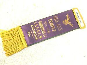 Vintage Members ribbon ULA-LEE temple #156 Ardmore,Pa.