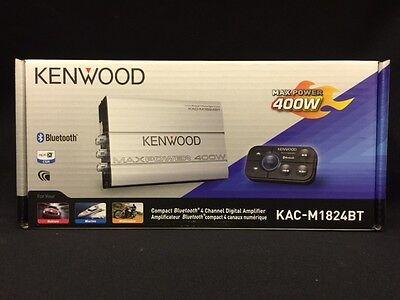 Kenwood KAC-M1824BT 400 Watts 4-Channel Marine BOAT ATV Amplifier Bluetooth New