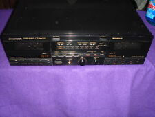 Vintage Pioneer Stereo Double Cassette Tape Deck Player Model Ct - W600r