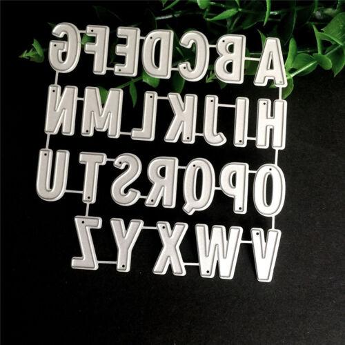 Alfabeto Hazlo tú mismo Papel Corte muere Stencil Scrapbook álbum grabado de Tarjetas artesanal dsu