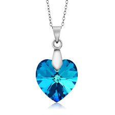 Nirano Collection Bermuda Blue Heart Pendant Created with Swarovski® Crystals