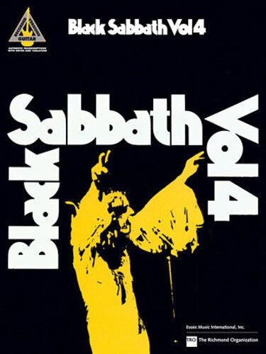***BRAND NEW*** SONGBOOK BLACK SABBATH GUITAR TAB 4 TABLATURE VOL