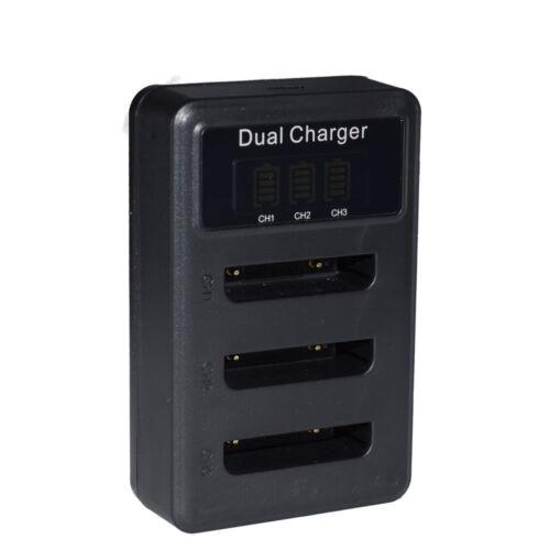 3x Cargador de batería y LCD triple Li40B Para Olympus D720 D725 D730 X825 X835 X875