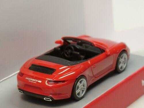 028844-1:87 Herpa Porsche 911 Carrera 2 Cabrio indischrot