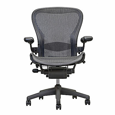 100% authentic 91828 47ac4 Herman Miller Aeron Chair Open Box Size B Fully Loaded hardwood caster |  eBay