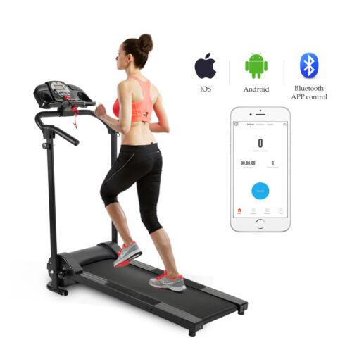 Folding Treadmill Electric Support Motorized Power Running Fitness Machine hlk