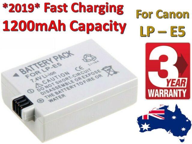 LP-E5 Battery for Canon EOS 450D 500D 1000D XS Rebel T1i Rebel Xsi Kiss X3 X2 F