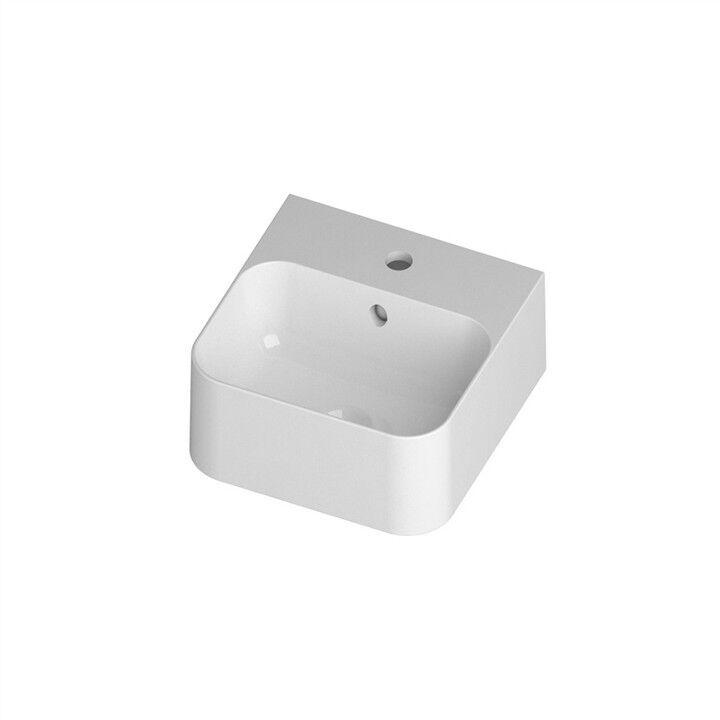 Lavandino Lavabo Parete   Appoggio 35 cm Slim in Ceramica bianco