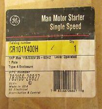 Starters 4 & 12 ENCLOSURE GE CR101Y400H MANUAL MOTOR STARTER LEVER ...