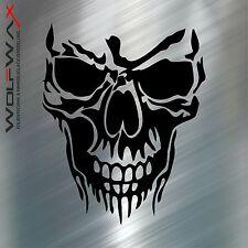 Aufkleber Totenkopf  Motorhaube  Skull Sticker Tattoo JDM Decals OEM 14cm typ2