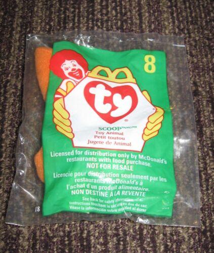 Pelican 1998 Ty Teenie Beanie McDonalds Happy Meal Toy Scoop #8