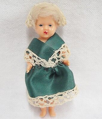 Michael Querzola MQ Vintage Hard Plastic Girl Doll 1950s Jointed Italy