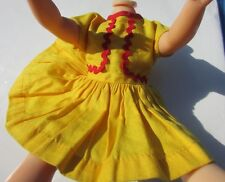 Shirley Temple Doll Rare Dress Yellow With Ric Rac 1959 Sear's Gift set 12""