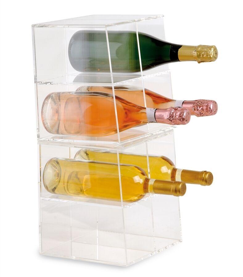 Reschwarz - Cantinetta Doppio Uso per 8 Bottiglie - Modulo Componibile - Design