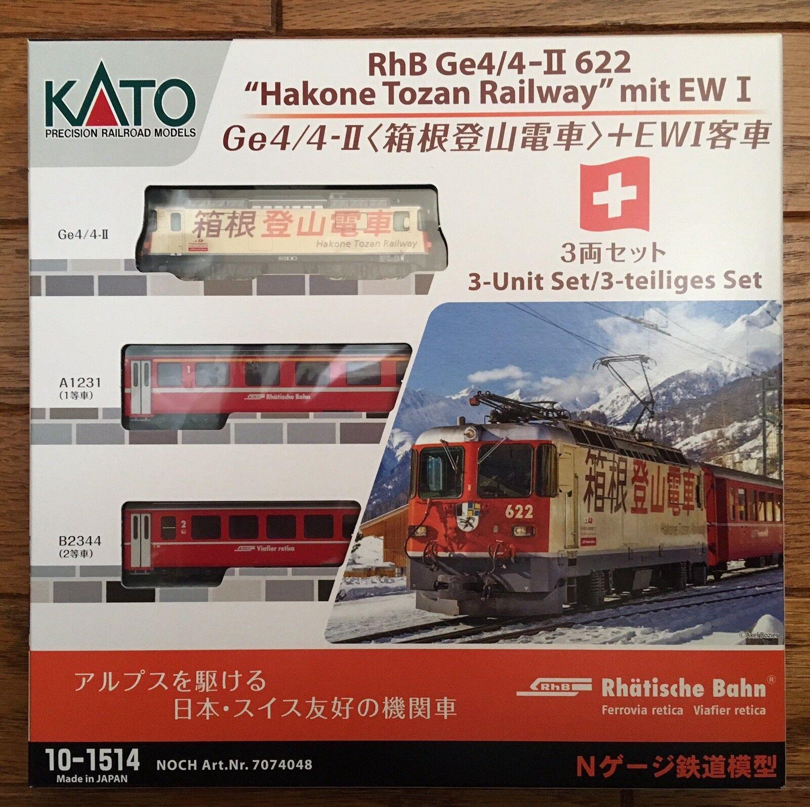 Kato 10-1514 RhB ge4 4-ii 622-Hakone Manga Railway with EW I-N Gauge