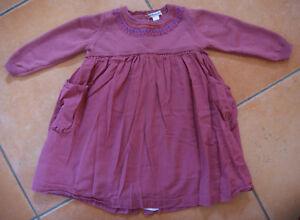 Kleid Mädchen Vertbaudet Größe 80 Altrosa Sehr Gut Zwillinge