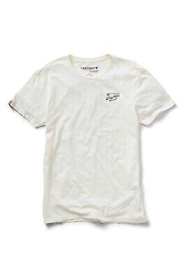 GENUINE TRIUMPH T-SHIRT PRESLEY WHITE T SHIRT TRIUMPH SKULL LOGO SHIRT WHITE