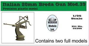 MIRROR MODELS ITALIAN BREDA GUN MOD.39 Scala 1//35 cod.35300