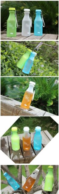 Outdoor Leak-proof Unbreakable Travel Sport Water Bottle Camping Hiking Cycling