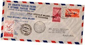 BUSTA-ITALIA-PRIMO-VOLO-SPECIALE-LUCCA-MILANO-1947-ITALY-FIRST-FLIGHT-COVER