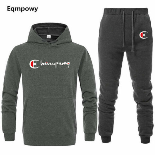 Men/'s Tracksuit Set Hoodie Bottoms Sports Suit Pants Jogging Trousers Gym Solid