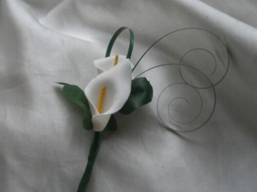 Página de pequeño Padrino De Boda Bebés Niño portador de anillo doble Calla Lirio Ojal