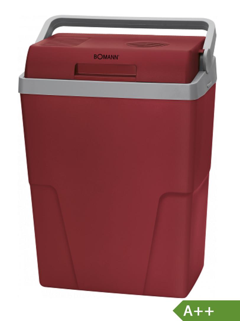 Bomann Kühlbox KB 6011 CB 25 l rot grau 12 V 230V Anschluss Kabelstaufach A++