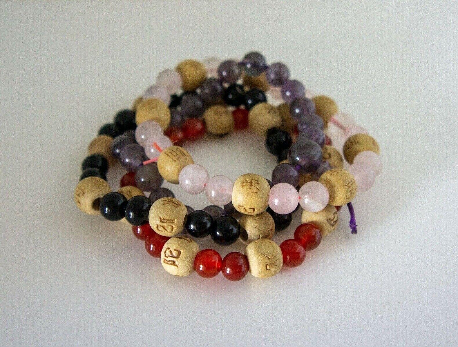 Beaded Bracelets Stack, Feng Shui, 4PCS - image 1