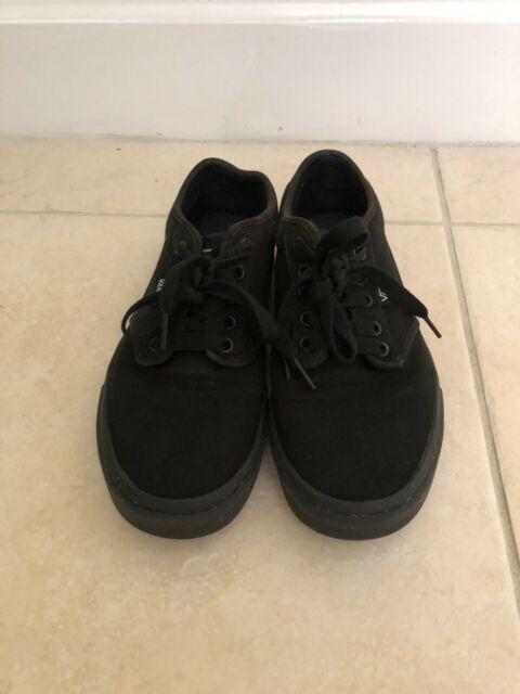 VANS Authentic Skate Black Men's Shoes Size 8