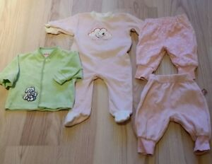 Strampler Jäckchen Gr 62 Den Speichel Auffrischen Und Bereichern Baby Kleiderpaket Wäschepaket 4 Teile U.a 56