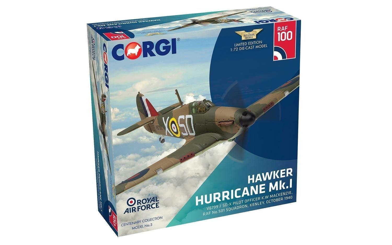 Corgi Hawker Hurricane Mk.i V6799 Raf No.501 Squadron 1 72 Escala - AA27607