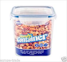 Clip Lock Tall Airtight Kitchen Food Storage Container Plastic box fresh 1 Liter