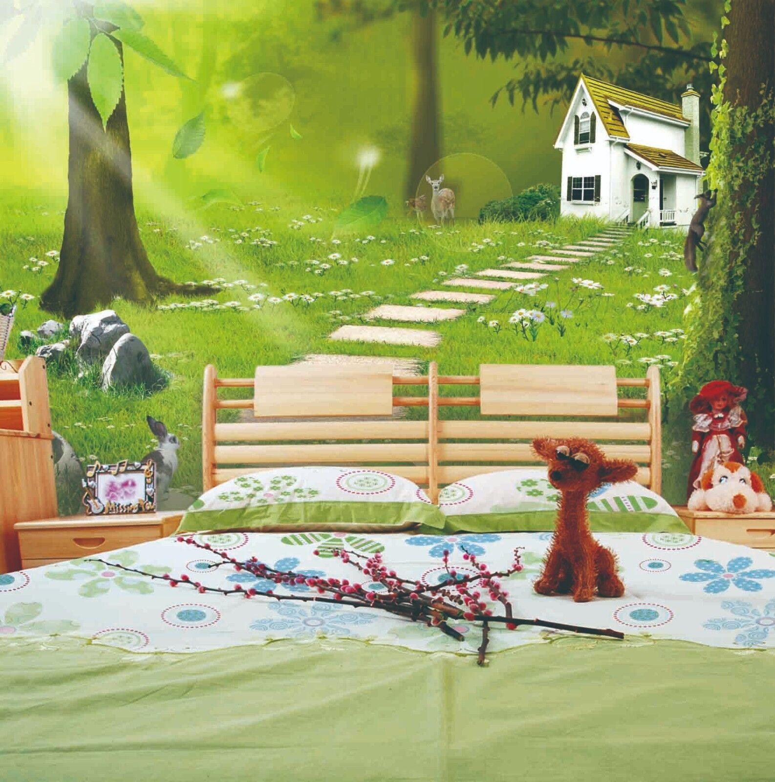 3D Wälder Spur Villa 9893 Tapete Wandgemälde Tapeten Bild Familie DE Jenny
