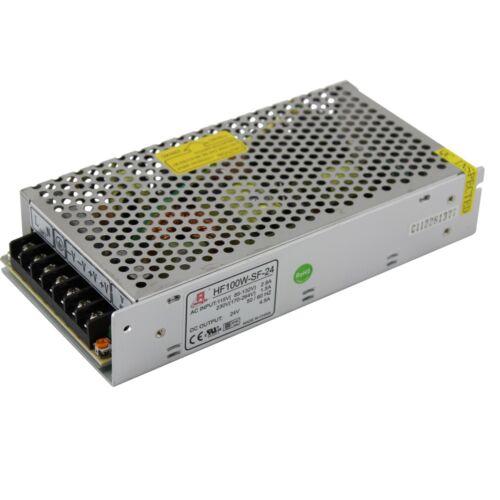 24 volt DC  power supply enclosed switch mode 24V  4.5A 100W
